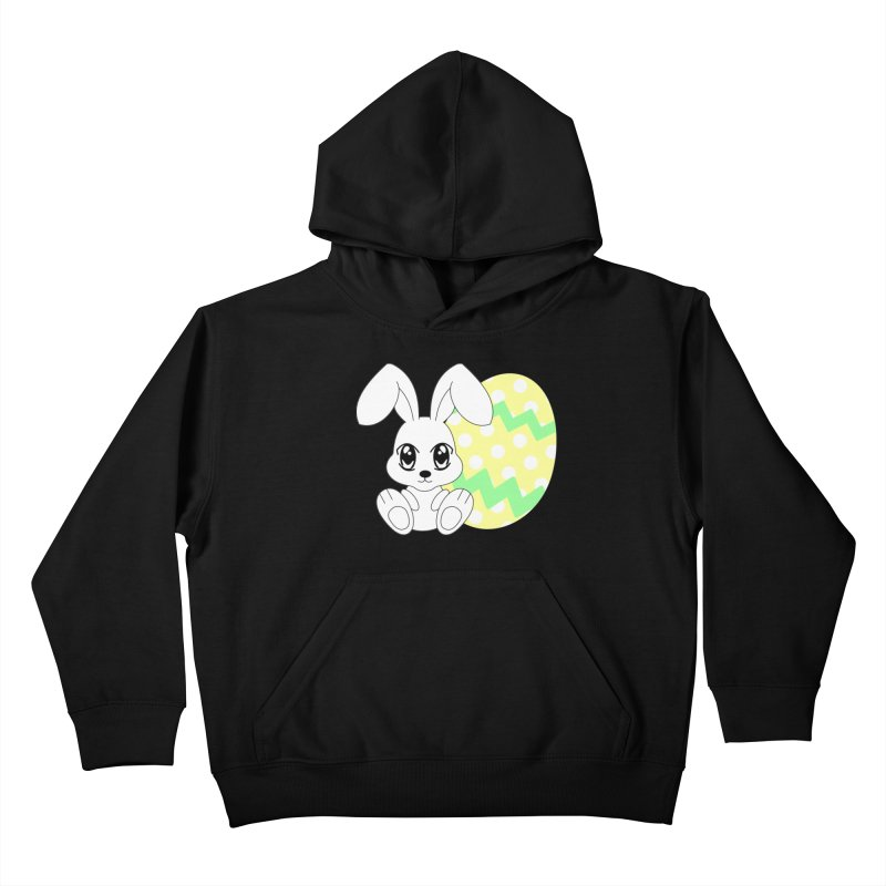 The Easter bunny Kids Pullover Hoody by 1001 bunnies
