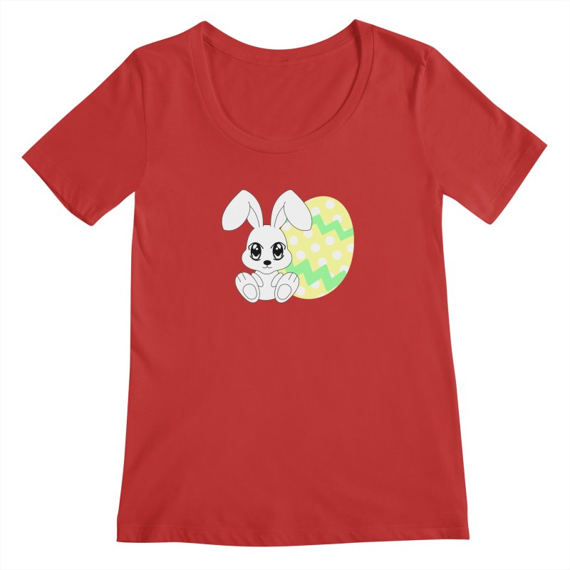 The Easter bunny Women's Scoopneck by 1001 bunnies