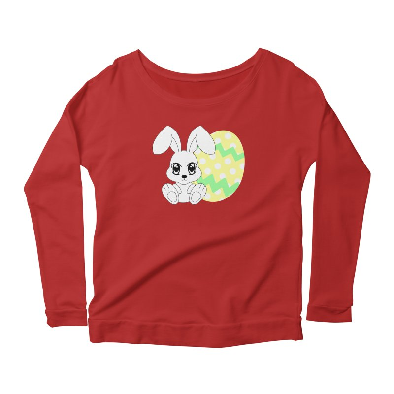 The Easter bunny Women's Longsleeve Scoopneck  by 1001 bunnies