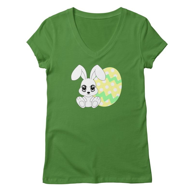 The Easter bunny Women's V-Neck by 1001 bunnies