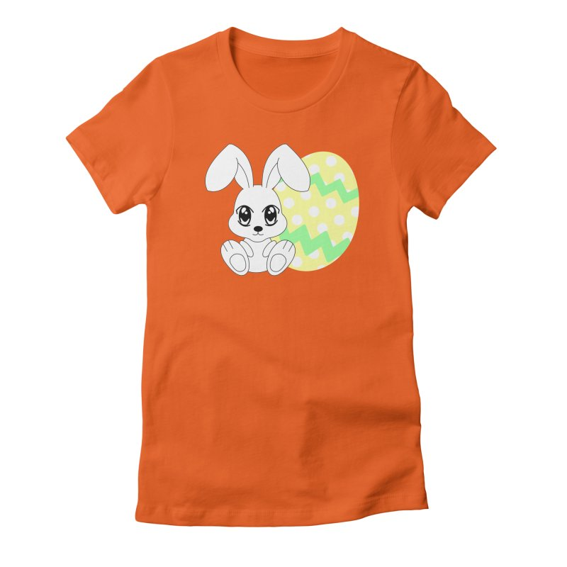 The Easter bunny Women's Fitted T-Shirt by 1001 bunnies