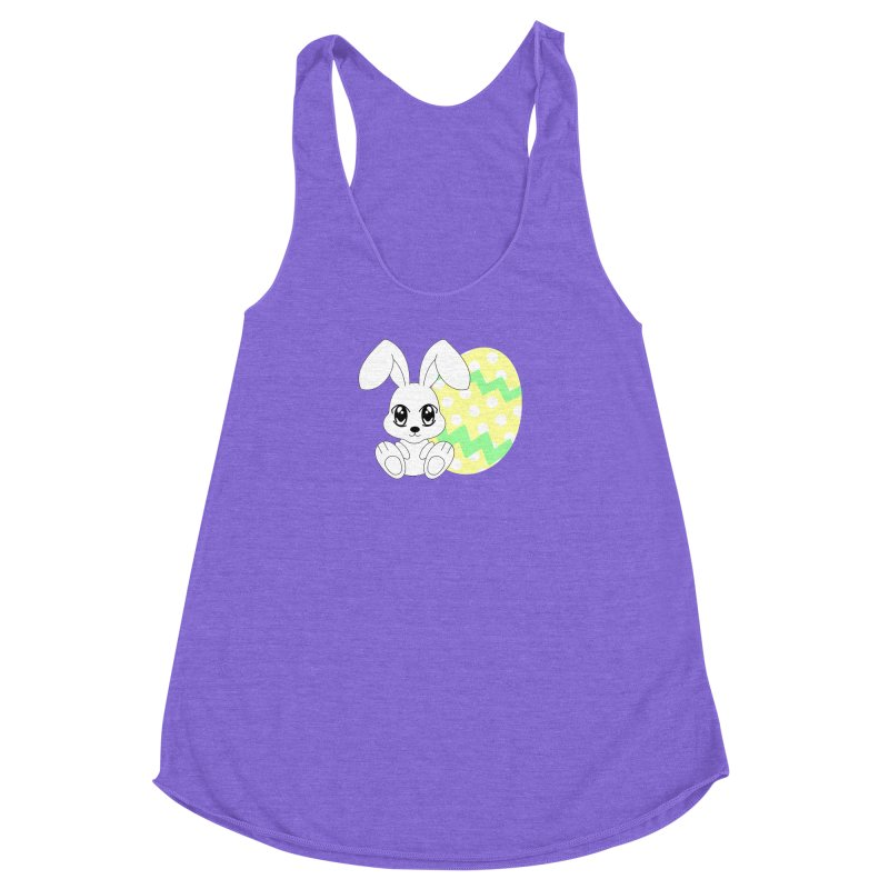 The Easter bunny Women's Racerback Triblend Tank by 1001 bunnies
