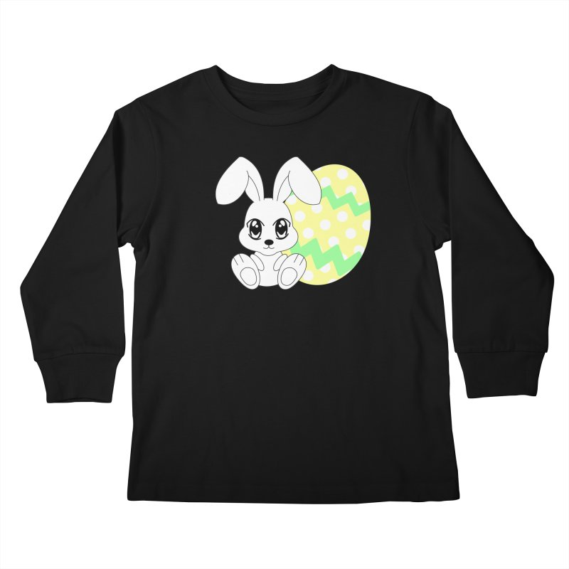 The Easter bunny Kids Longsleeve T-Shirt by 1001 bunnies