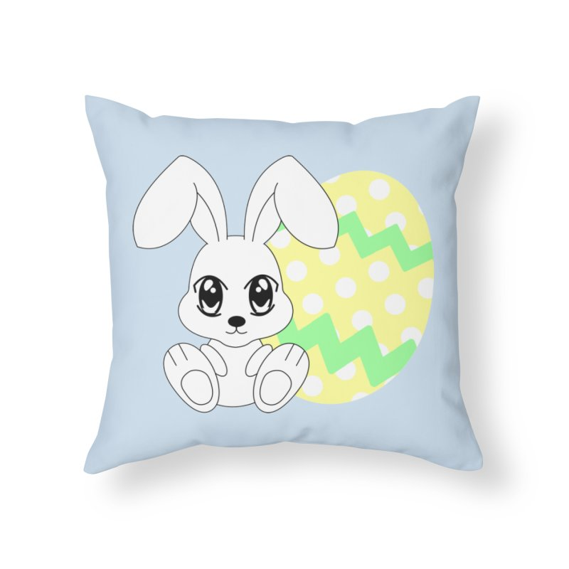 The Easter bunny Home Throw Pillow by 1001 bunnies