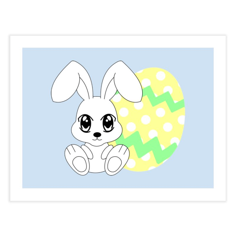 The Easter bunny Home Fine Art Print by 1001 bunnies