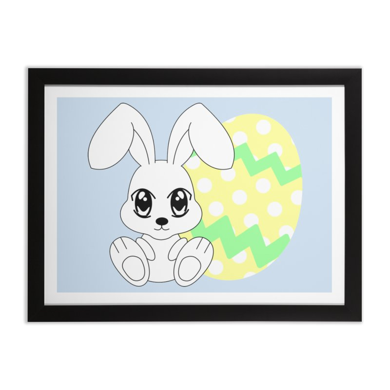 The Easter bunny Home Framed Fine Art Print by 1001 bunnies