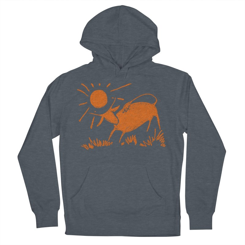 Bull Men's French Terry Pullover Hoody by kouzza's Artist Shop