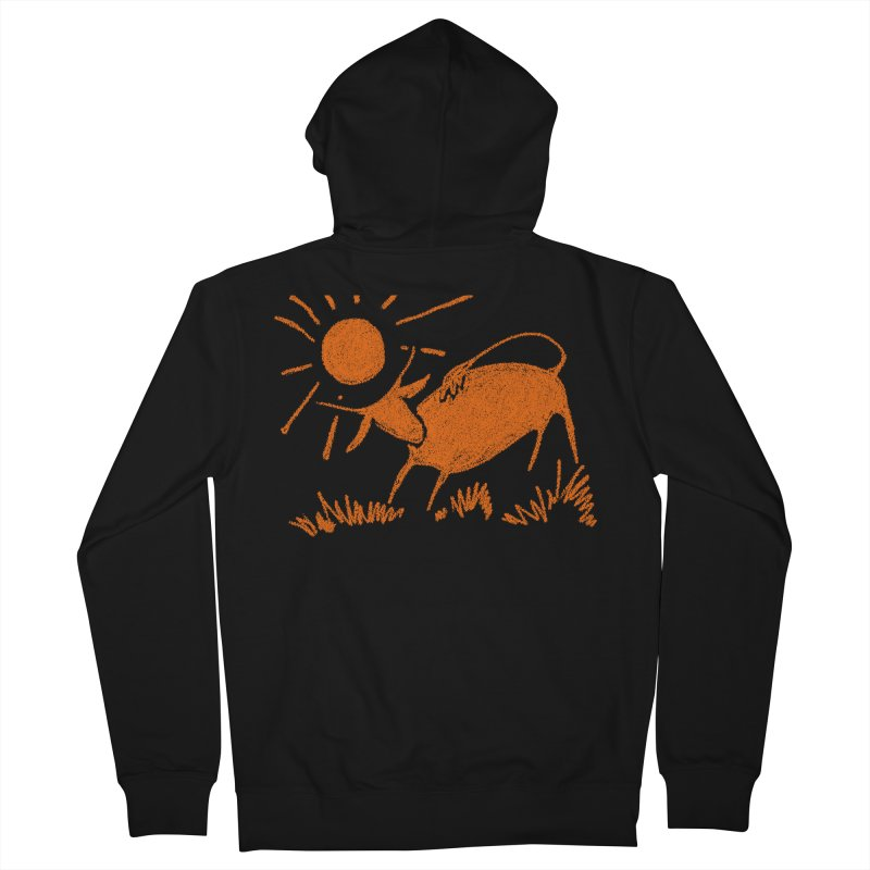 Bull Men's Zip-Up Hoody by kouzza's Artist Shop