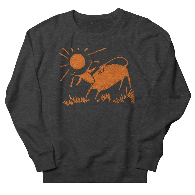 Bull Women's French Terry Sweatshirt by kouzza's Artist Shop