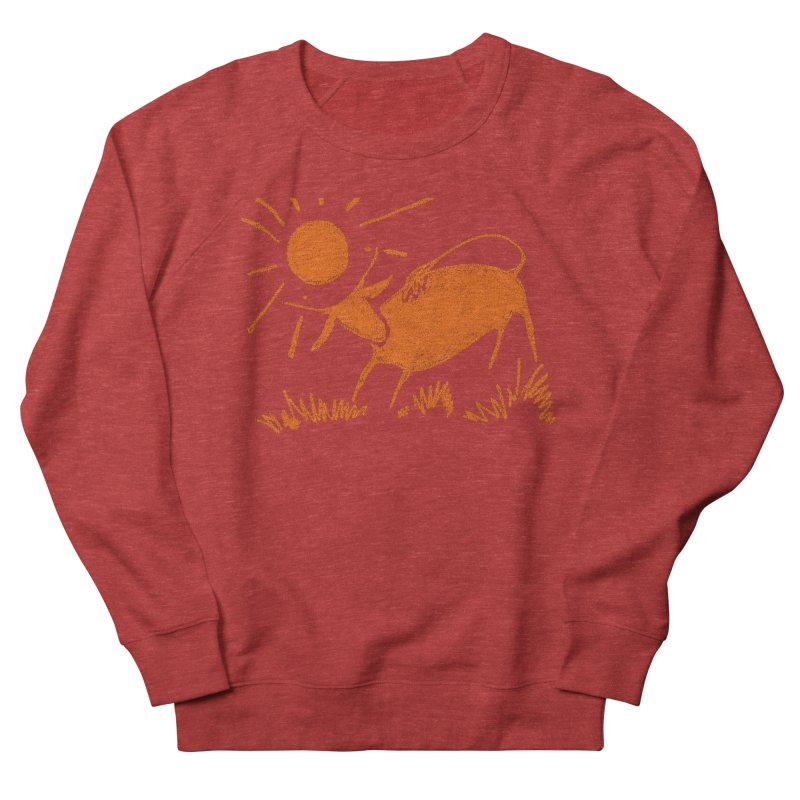 Bull Men's French Terry Sweatshirt by kouzza's Artist Shop