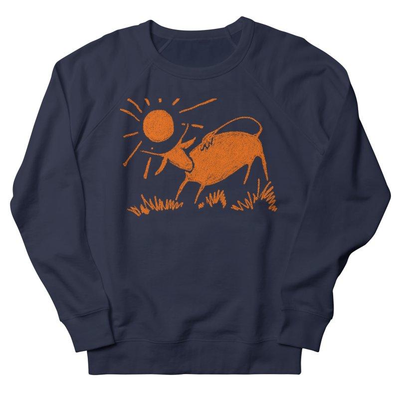Bull Men's French Terry Sweatshirt by kouzza's Artist Shop