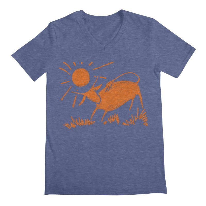 Bull Men's Regular V-Neck by kouzza's Artist Shop