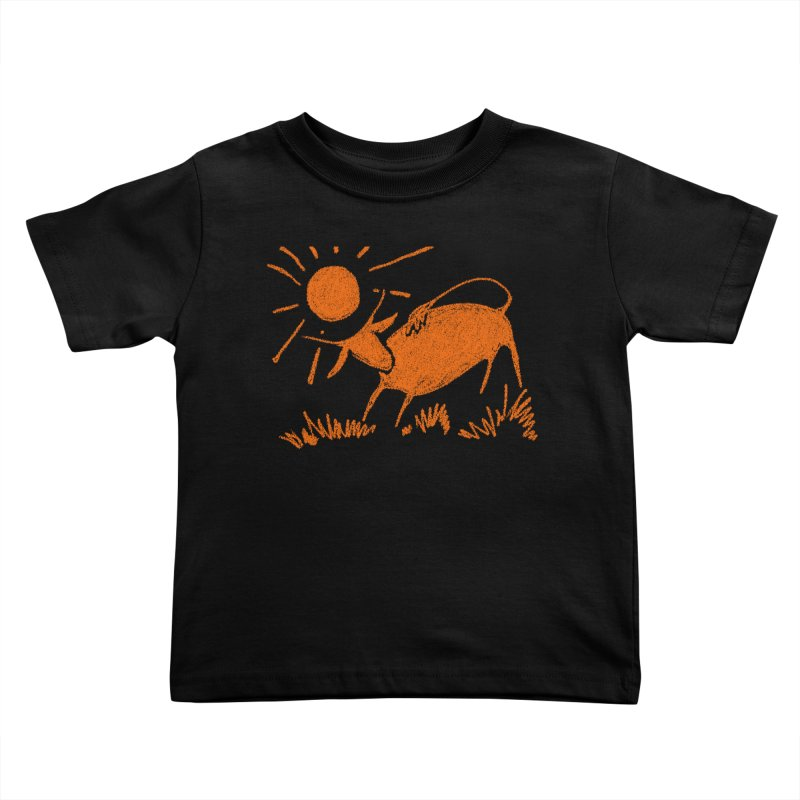 Bull Kids Toddler T-Shirt by kouzza's Artist Shop