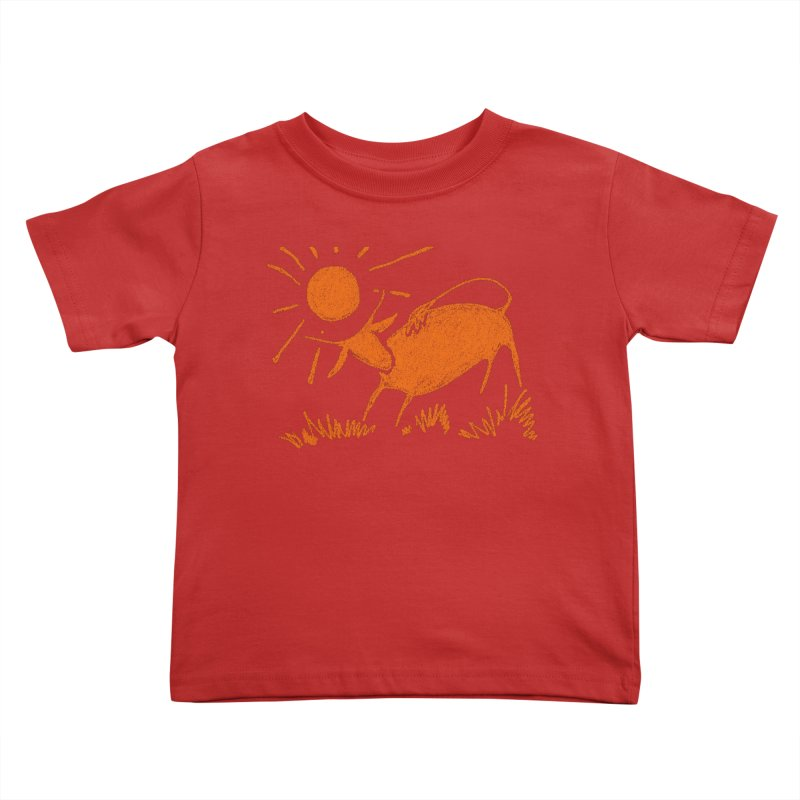 Bull Kids Toddler T-Shirt by kouzza's Artist Shop