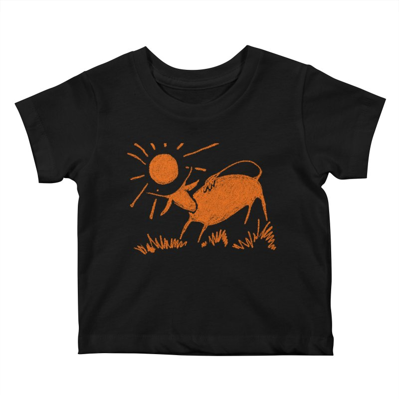 Bull Kids Baby T-Shirt by kouzza's Artist Shop