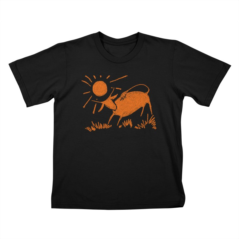 Bull Kids T-Shirt by kouzza's Artist Shop