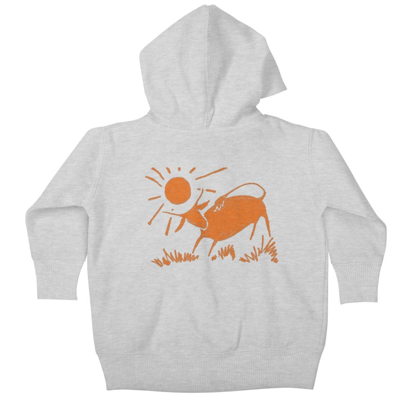 Bull Kids Baby Zip-Up Hoody by kouzza's Artist Shop