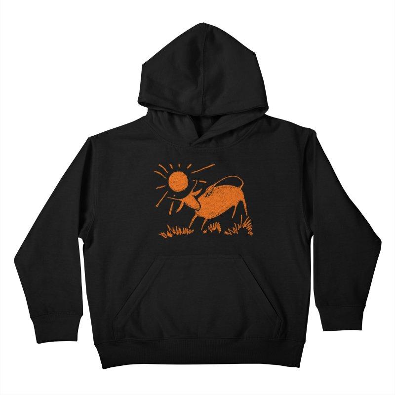 Bull Kids Pullover Hoody by kouzza's Artist Shop