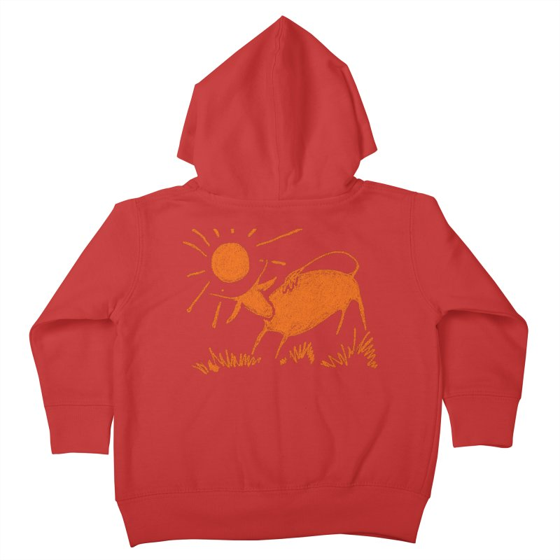 Bull Kids Toddler Zip-Up Hoody by kouzza's Artist Shop