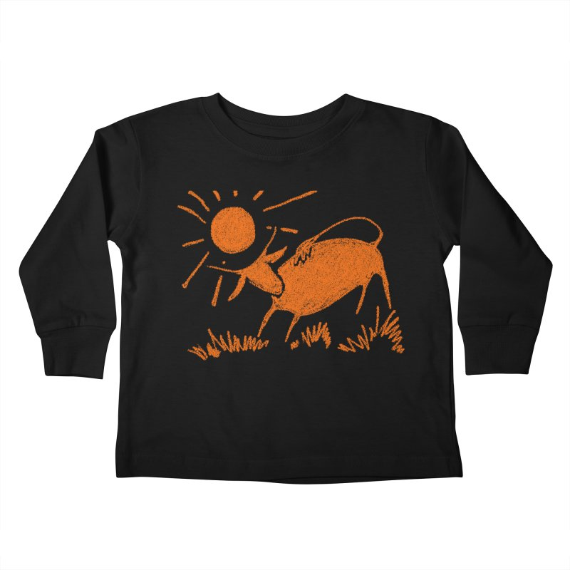 Bull Kids Toddler Longsleeve T-Shirt by kouzza's Artist Shop