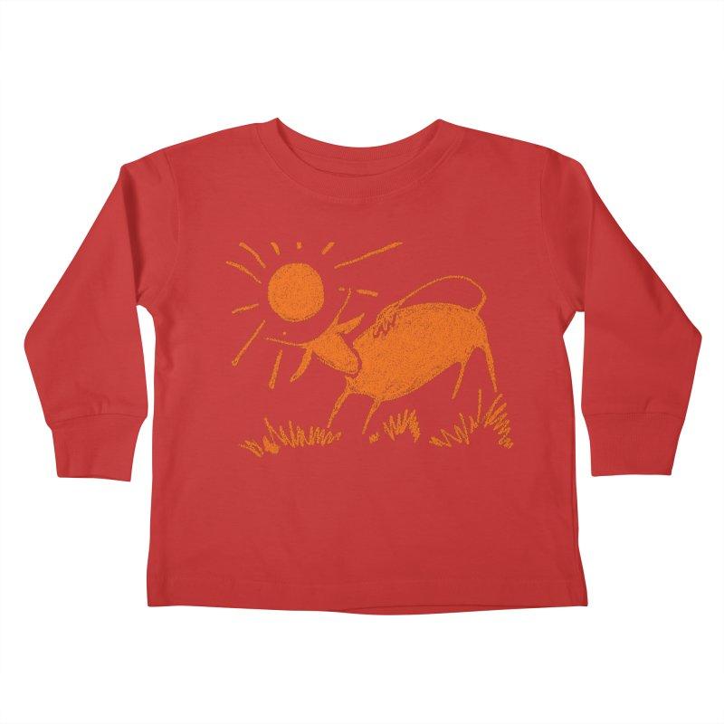 Bull Kids Toddler Longsleeve T-Shirt by kouzza's Artist Shop