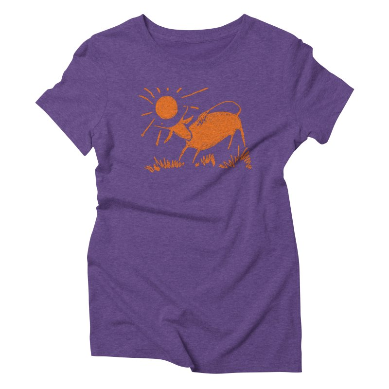 Bull Women's Triblend T-Shirt by kouzza's Artist Shop