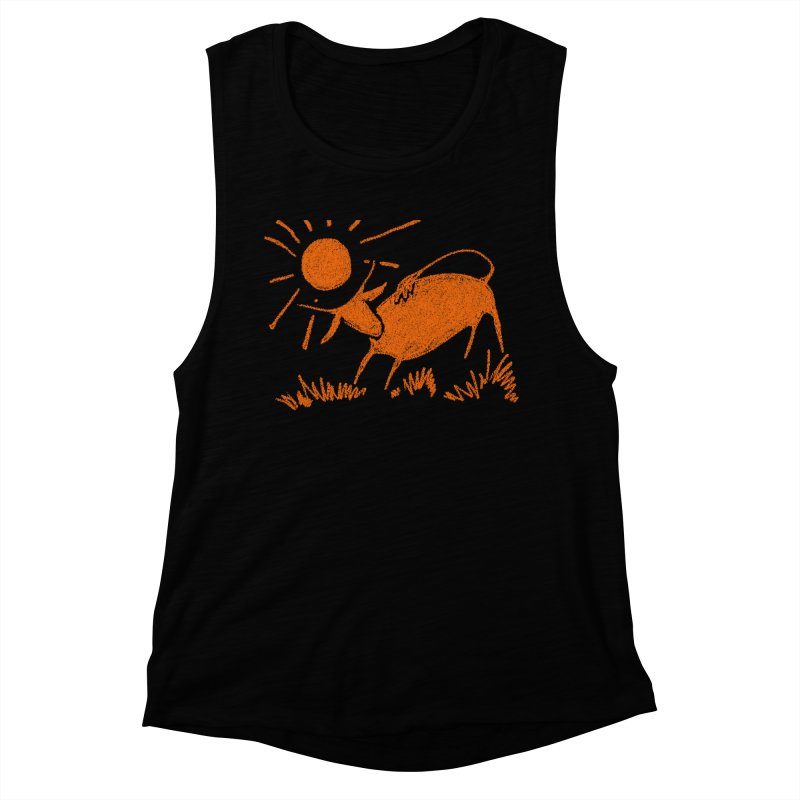 Bull Women's Muscle Tank by kouzza's Artist Shop