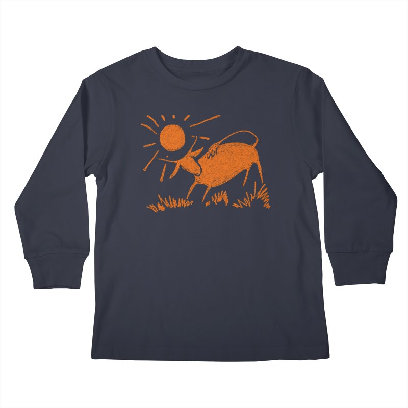 Bull Kids Longsleeve T-Shirt by kouzza's Artist Shop