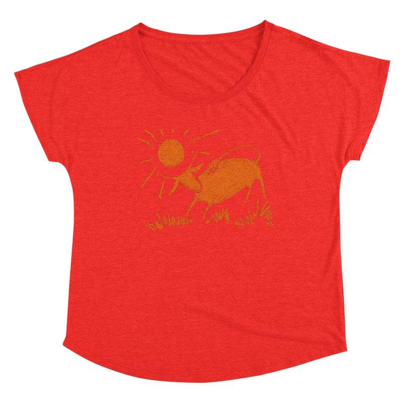 Bull Women's Scoop Neck by kouzza's Artist Shop