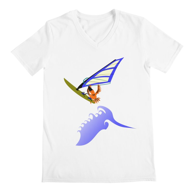 Windsurfing  Men's V-Neck by kouzza's Artist Shop