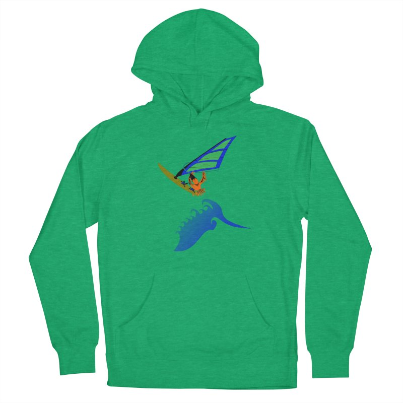 Windsurfing  Men's French Terry Pullover Hoody by kouzza's Artist Shop