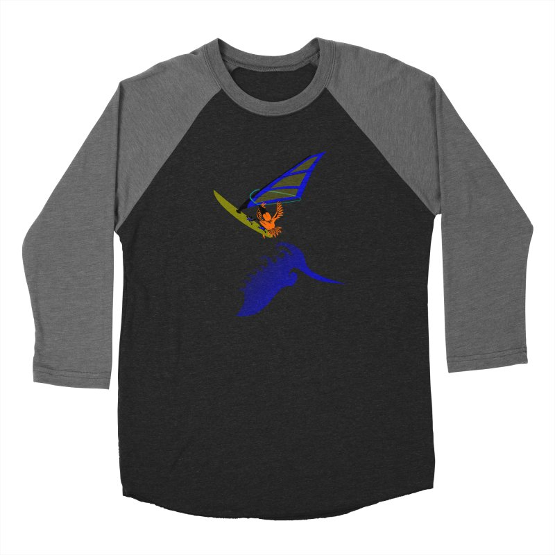 Windsurfing  Women's Baseball Triblend Longsleeve T-Shirt by kouzza's Artist Shop