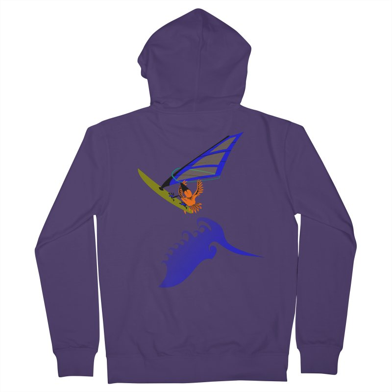 Windsurfing  Women's French Terry Zip-Up Hoody by kouzza's Artist Shop