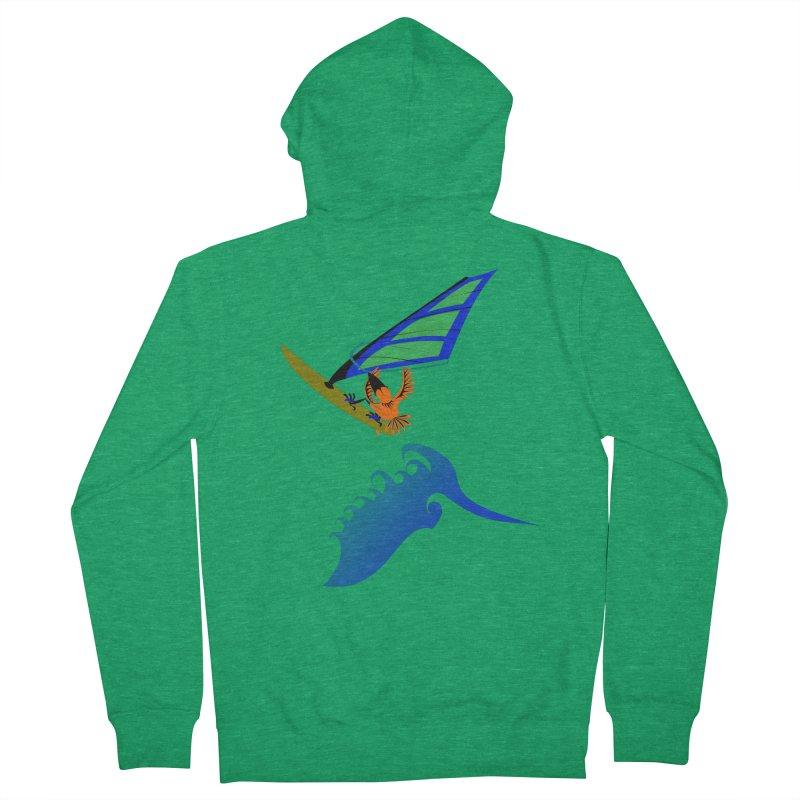 Windsurfing  Men's Zip-Up Hoody by kouzza's Artist Shop