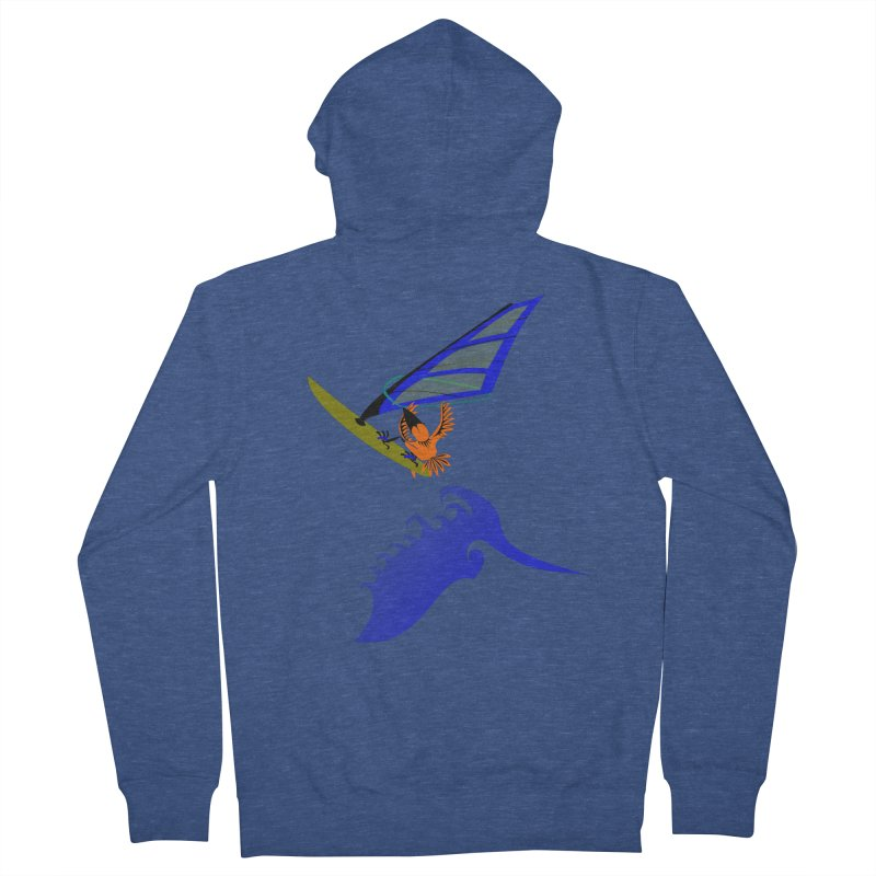 Windsurfing  Men's French Terry Zip-Up Hoody by kouzza's Artist Shop