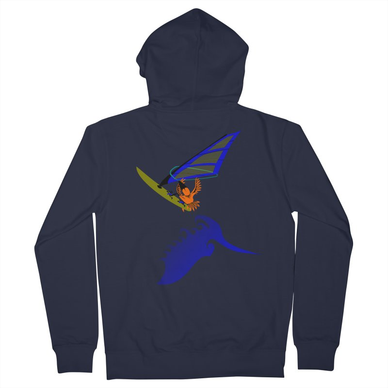 Windsurfing  Men's Zip-Up Hoody by kouzza's Artist Shop