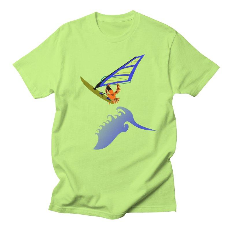 Windsurfing  Men's Regular T-Shirt by kouzza's Artist Shop