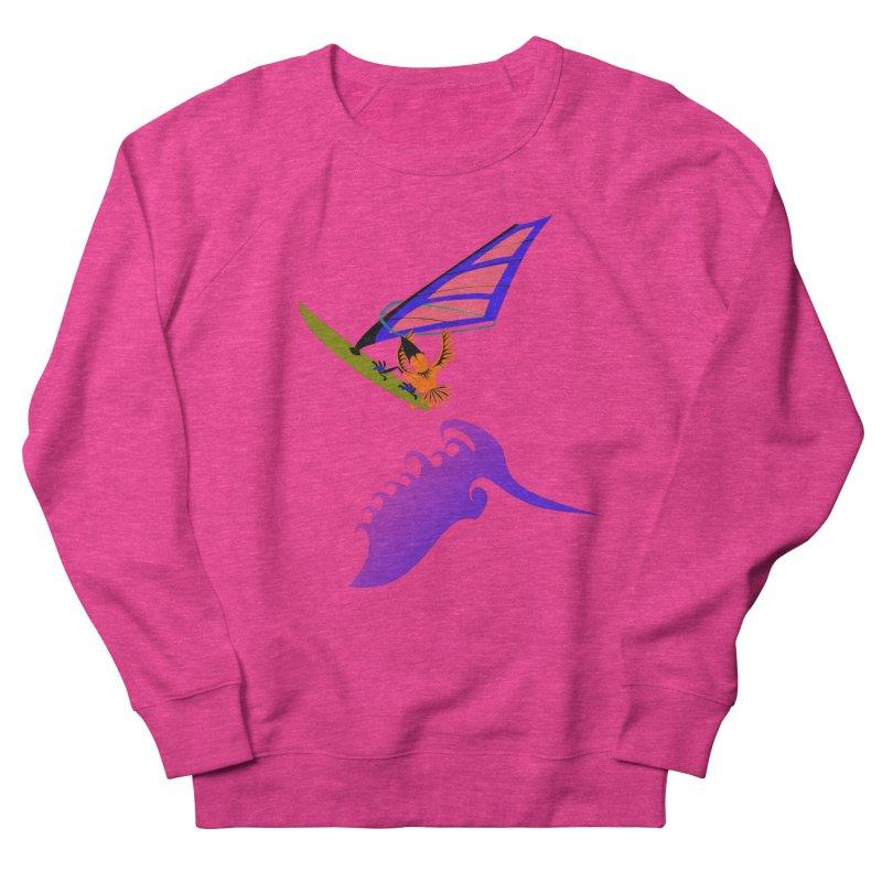 Windsurfing  Women's French Terry Sweatshirt by kouzza's Artist Shop