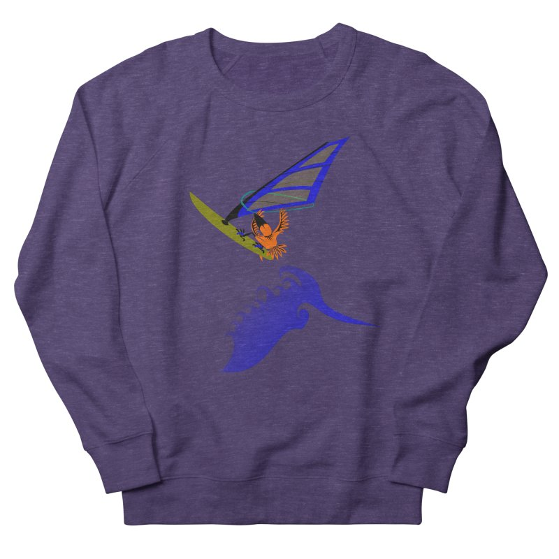 Windsurfing  Men's French Terry Sweatshirt by kouzza's Artist Shop