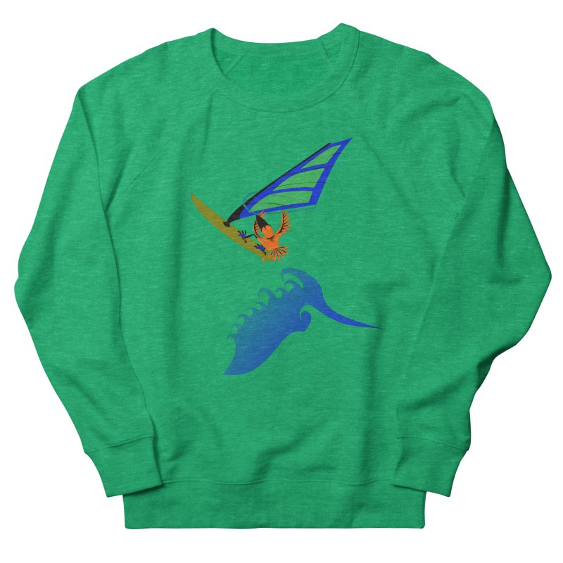 Windsurfing  Men's French Terry Sweatshirt by kouzza's Artist Shop