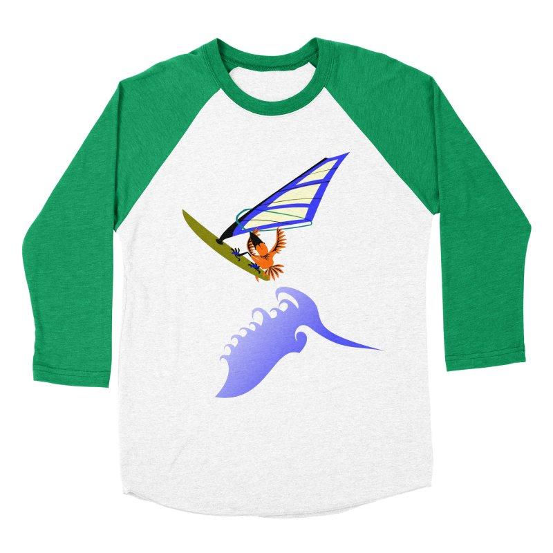 Windsurfing  Women's Baseball Triblend Longsleeve T-Shirt by kouzza's Artist Shop