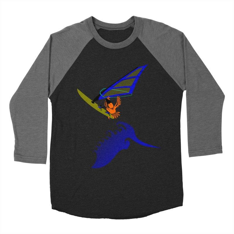 Windsurfing  Men's Baseball Triblend T-Shirt by kouzza's Artist Shop
