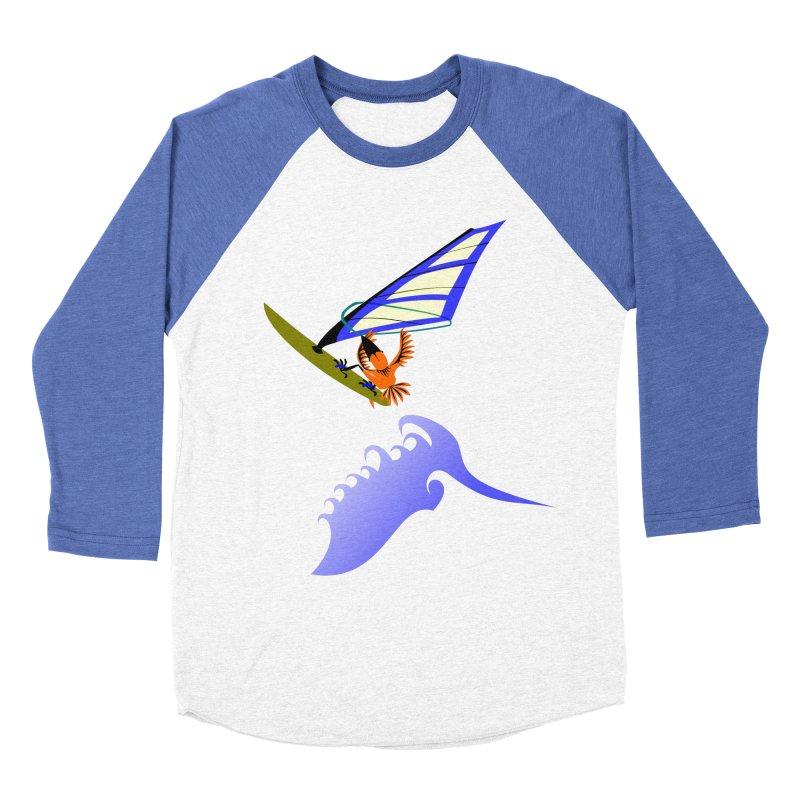 Windsurfing  Men's Baseball Triblend Longsleeve T-Shirt by kouzza's Artist Shop