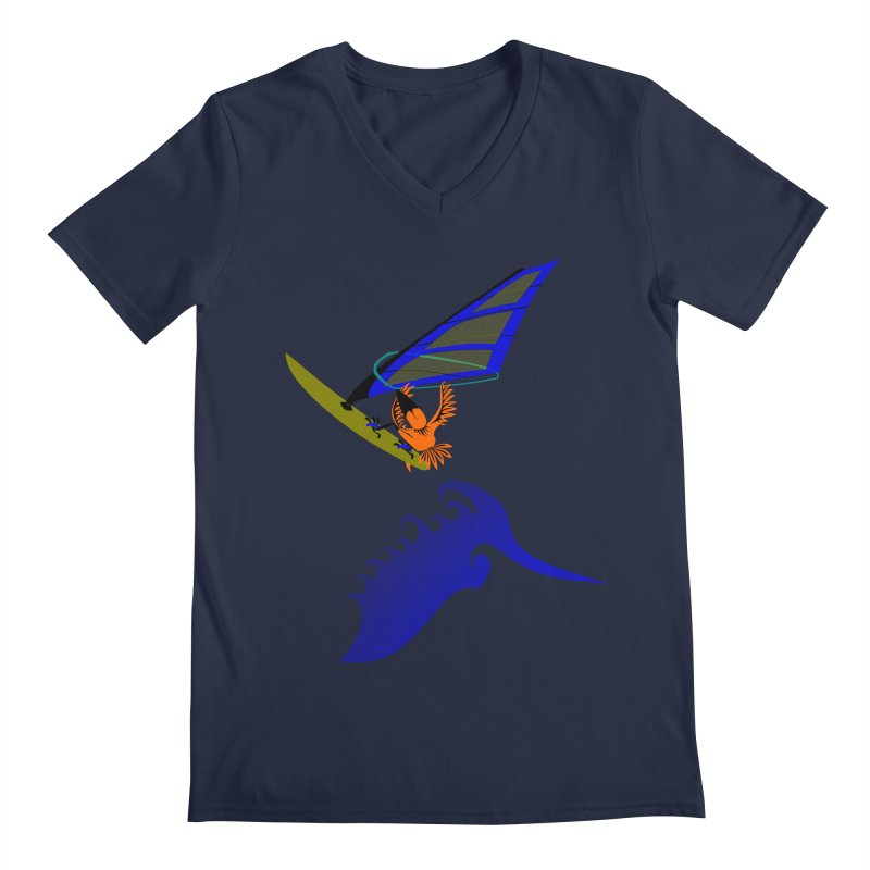 Windsurfing  Men's Regular V-Neck by kouzza's Artist Shop