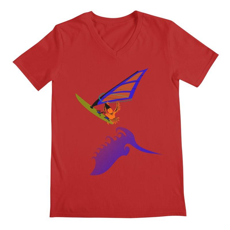 Windsurfing  Men's V-Neck by kouzza's Artist Shop