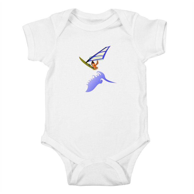 Windsurfing  Kids Baby Bodysuit by kouzza's Artist Shop