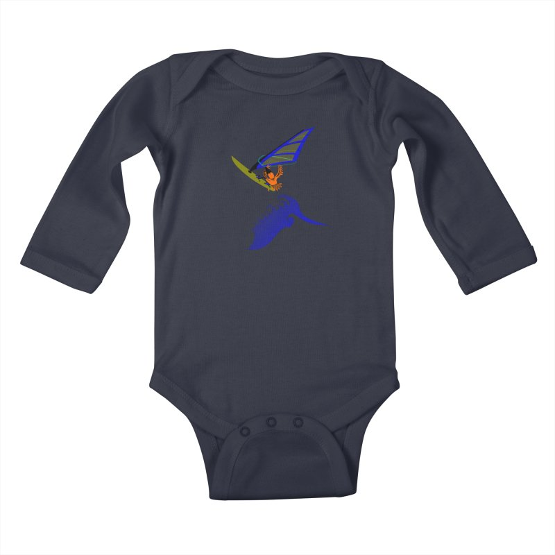 Windsurfing  Kids Baby Longsleeve Bodysuit by kouzza's Artist Shop