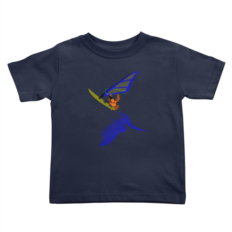 Windsurfing  Kids Toddler T-Shirt by kouzza's Artist Shop