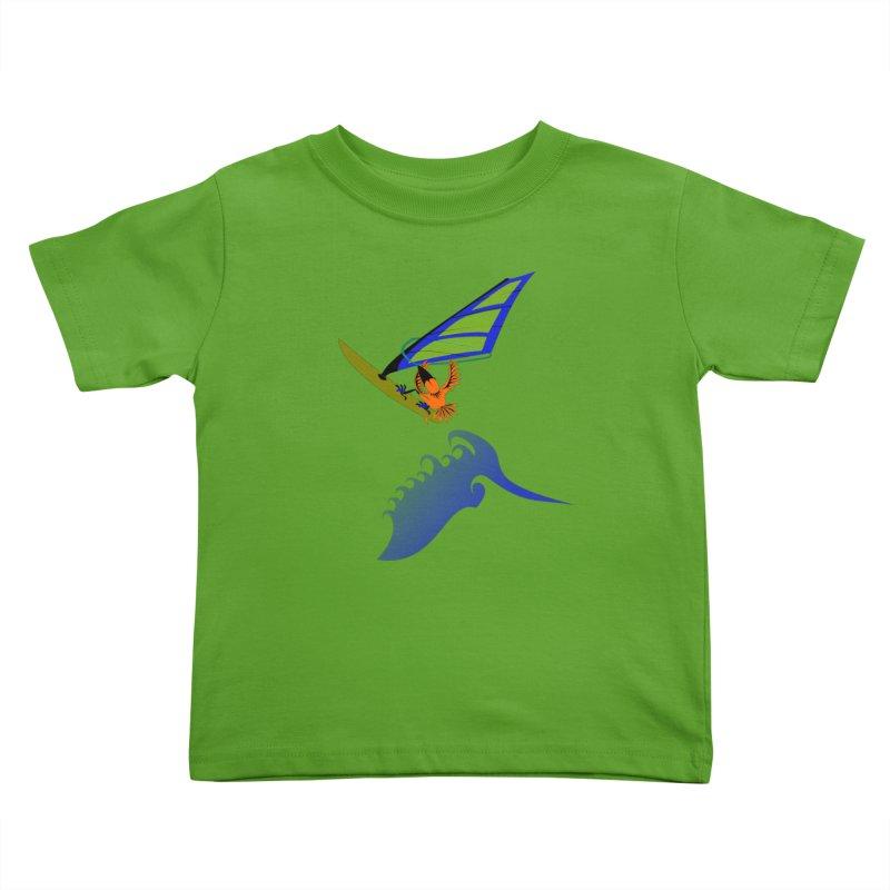 Windsurfing  Kids Toddler T-Shirt by kouzza's Artist Shop