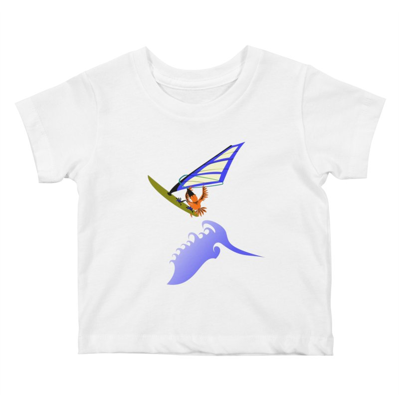 Windsurfing  Kids Baby T-Shirt by kouzza's Artist Shop